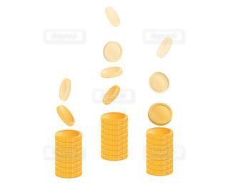 金貨、投資、ストック型ビジネスのイメージの写真・画像素材[3315476]