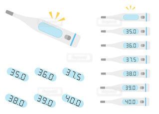 体温計のカラーイラスト 着せ替え 切り抜き(線なし)の写真・画像素材[3527985]