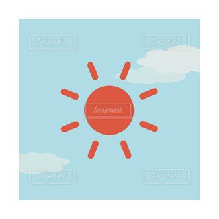 シンプルな昼イメージの角型アイコンの写真・画像素材[3690432]