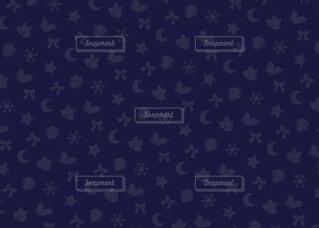 クリスマスモチーフ柄の背景素材 (紺)の写真・画像素材[3836415]
