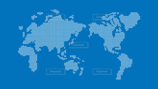 世界地図 簡略ドットイラストの写真・画像素材[4611157]
