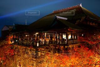 ライトアップされた清水寺の写真・画像素材[2430600]