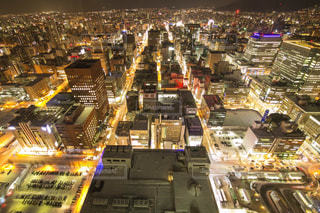 JRタワー展望室から札幌都心部の夜景の写真・画像素材[2476508]