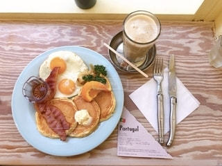 アメリカの朝食の写真・画像素材[2650101]