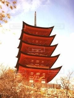 宮島の五重の塔の写真・画像素材[2415102]