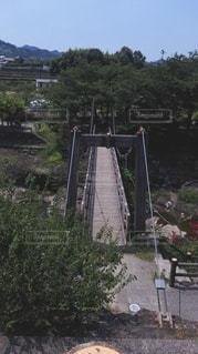 断層公園の吊り橋の写真・画像素材[2415169]