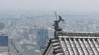 松山城から一望できる松山市の写真・画像素材[2417962]