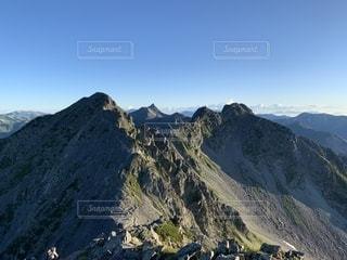 涸沢岳と槍ヶ岳の写真・画像素材[2412267]