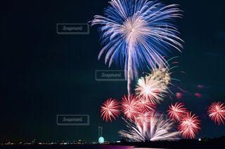 空の花火の写真・画像素材[2412418]