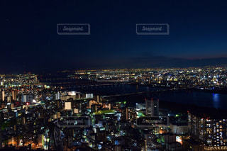 夜の大阪の写真・画像素材[2414775]