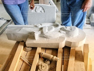 石像作業場にての写真・画像素材[2428620]