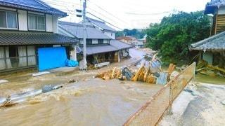 西日本豪雨の被害の写真・画像素材[2856678]