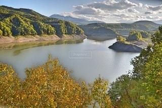 大雪湖の眺望の写真・画像素材[2510833]