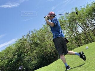 父とゴルフの写真・画像素材[2482761]