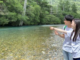 上高地の川での写真・画像素材[2482791]