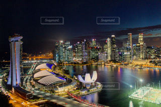 シンガポールの夜景の写真・画像素材[688925]