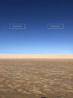 空と砂丘の写真・画像素材[2431145]