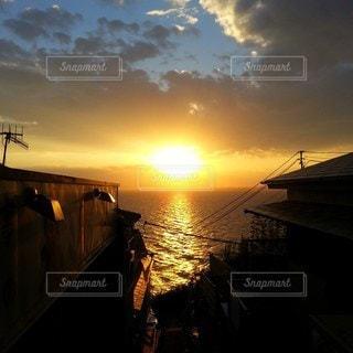 江ノ島 夕陽の写真・画像素材[2438689]