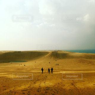 壮大な砂漠地帯の写真・画像素材[2439815]