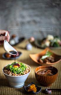 納豆ご飯の写真・画像素材[2694166]