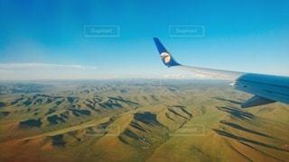 モンゴル上空の写真・画像素材[3078217]