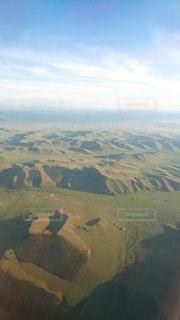 モンゴル上空の写真・画像素材[3078218]