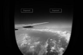 飛行機から見た雲の写真・画像素材[2442182]