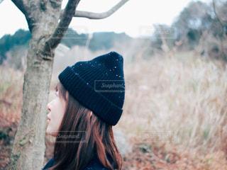 帽子をかぶった人の写真・画像素材[2868805]