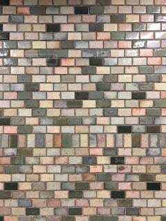 レンガの壁のクローズアップの写真・画像素材[2453354]