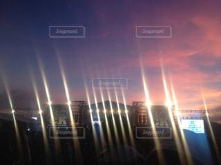 都市の夕日の写真・画像素材[2449656]