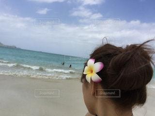 ハワイのビーチでの1枚の写真・画像素材[2455033]