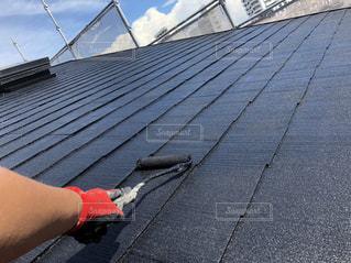 屋根塗装 塗り替え工事の写真・画像素材[2450895]