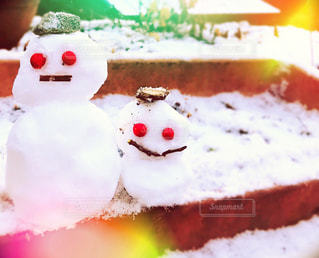 雪だるまの兄弟の写真・画像素材[2457155]