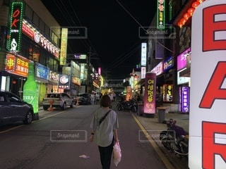 済州島の夜の写真・画像素材[2299843]