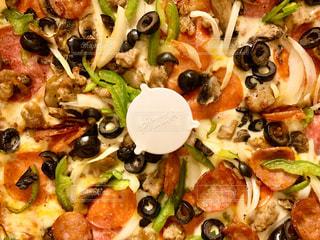 ピザのクローズアップの写真・画像素材[3077571]