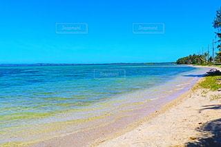 水域の隣の砂浜の写真・画像素材[3224674]