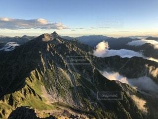 北穂高岳から槍ヶ岳の写真・画像素材[2468411]