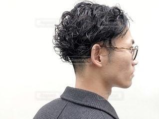 髪型 ツーブロック 横顔の写真・画像素材[2893031]