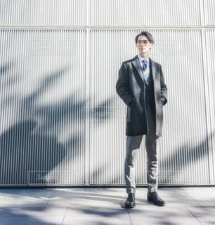 男性 コート ビジネスの写真・画像素材[2933587]
