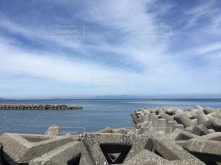 テトラポットと青い海の写真・画像素材[2474643]