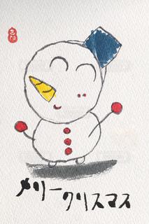 クリスマス素材・雪だるまの写真・画像素材[2778014]