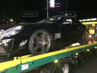 積載車に乗せられた車の写真・画像素材[2809833]