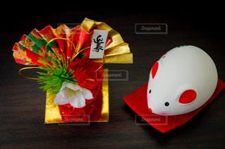 お正月・飾り・ネズミの写真・画像素材[2811765]