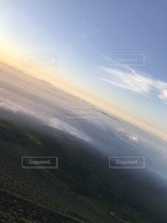 富士山からの朝焼けの写真・画像素材[2481504]