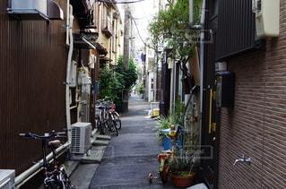 下町の路地の写真・画像素材[2497416]