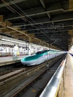 緑の新幹線の写真・画像素材[2577326]