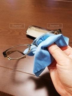 眼鏡の掃除の写真・画像素材[2678619]