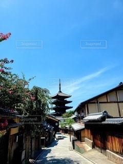 八坂の塔が見える町並みの写真・画像素材[3588267]