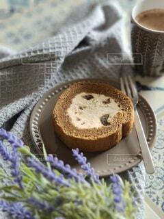 美味しいロールケーキの写真・画像素材[4367777]