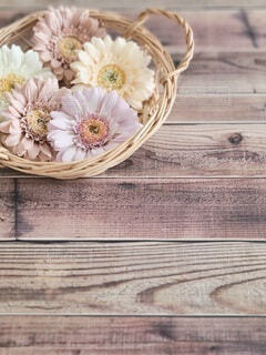 可愛い花かごの写真・画像素材[4601834]